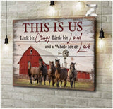 Zalooo This Is Us Horse Wall Art Canvas