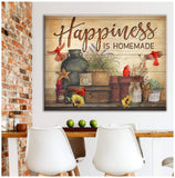 Canvas Cardinal Happiness Is Homemade