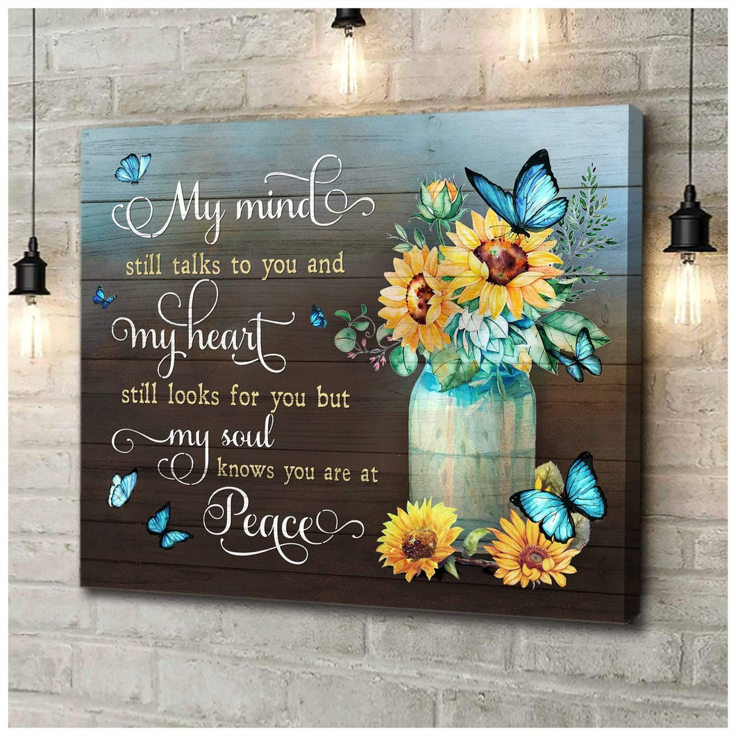 Zalooo You Are At Peace Butterfly Wall Art Canvas