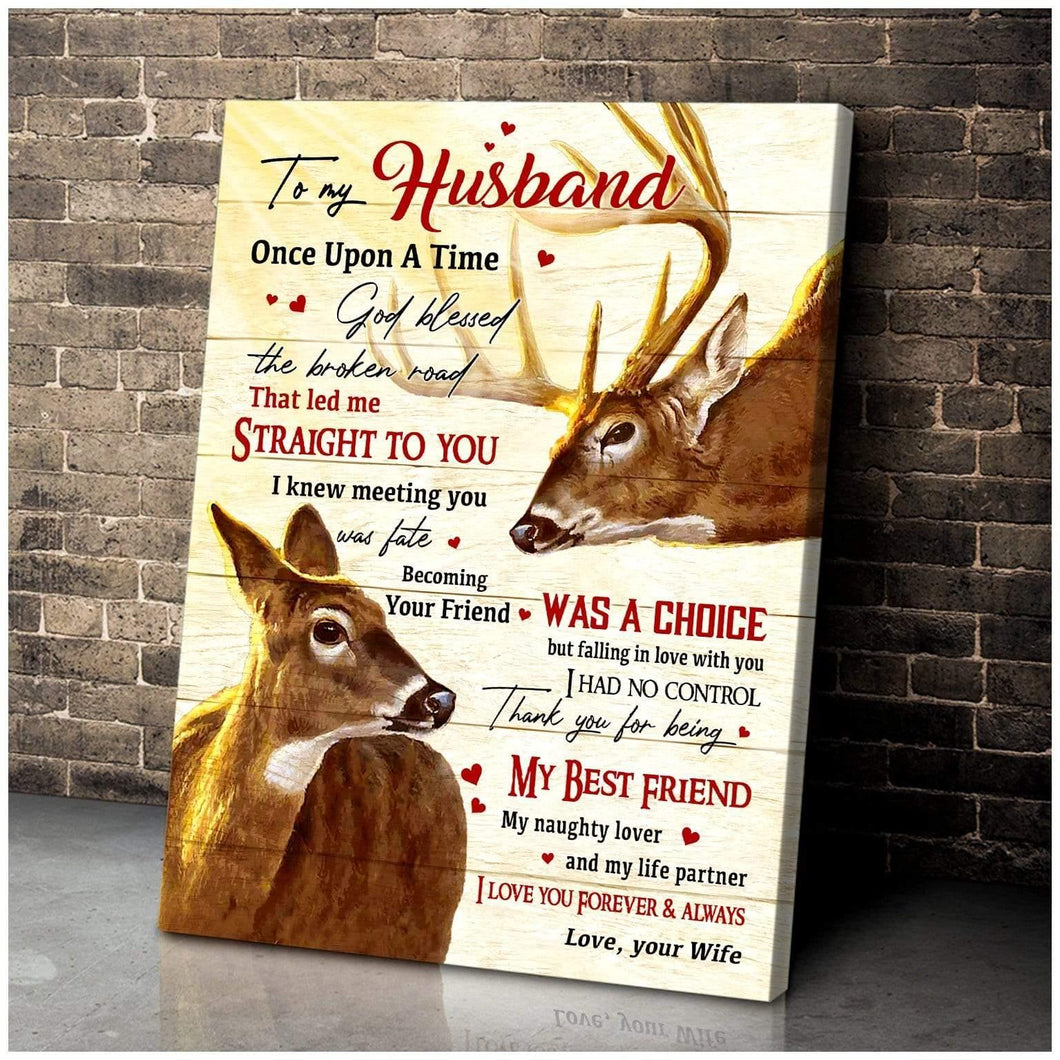 Zalooo Once Upon A Time Wife To Husband Deer Wall Art Canvas