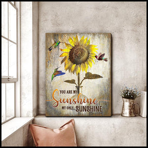 Zalooo You Are My Sunshine Hummingbird Wall Art Canvas