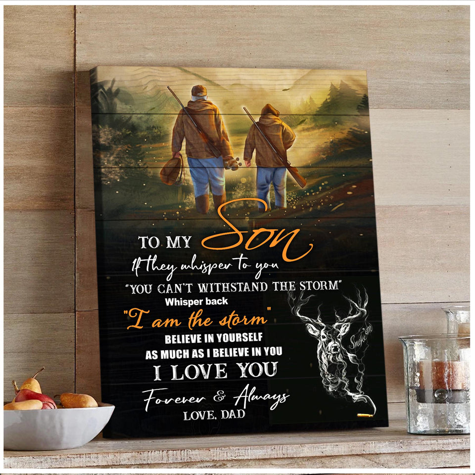 Zalooo If They Whisper Hunting Dad To Son Canvas Wall Art Decor