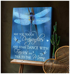 Zalooo May You Touch Dragonfly Wall Art Canvas