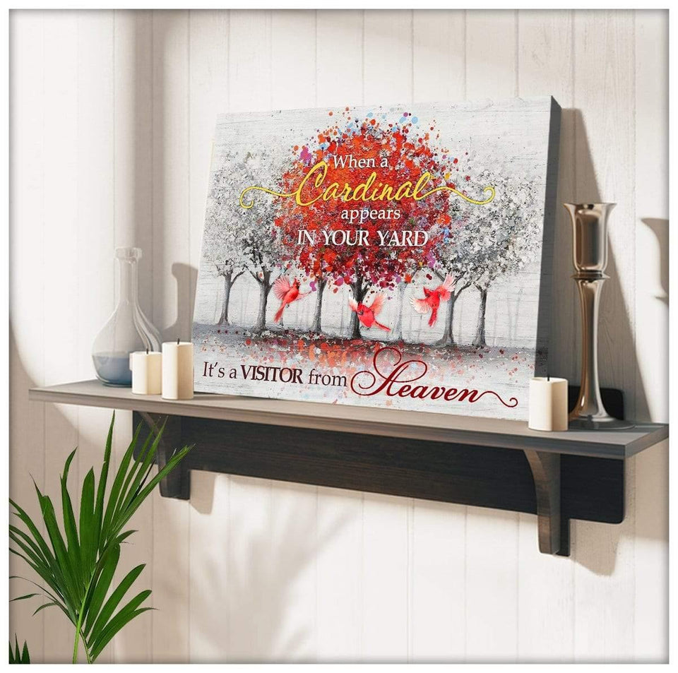 Zalooo From Heaven Cardinal Wall Art Canvas