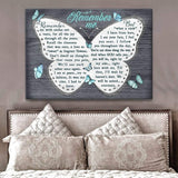 Zalooo Remember Me Butterfly Wall Art Canvas