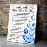 Zalooo Miss Me, But Let Me Go Butterfly Wall Art Canvas