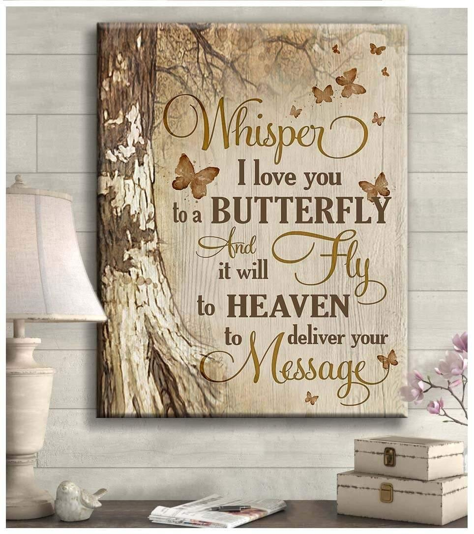 Zalooo Whisper I Love You Butterfly Wall Art Canvas