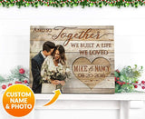 Zalooo And So Together Personalized Name And Photo Wedding Wall Art Canvas