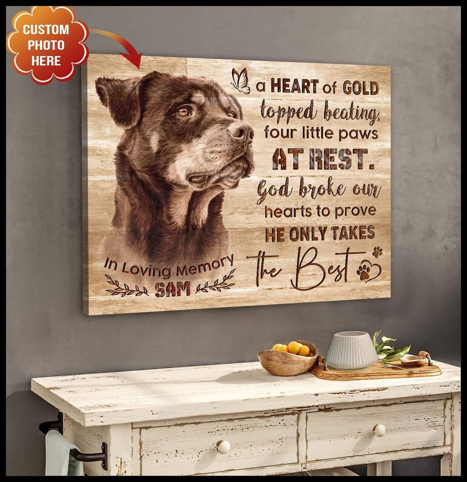 Zalooo The Best Dog Custom Wall Art Canvas