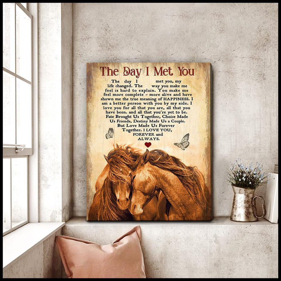 Zalooo The Day I Met You Horse Wall Art Canvas