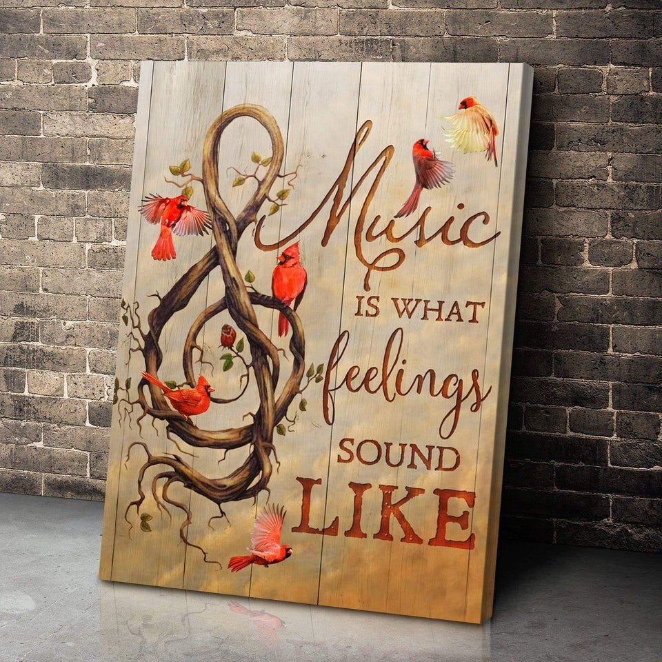Zalooo Music Is Cardinal Wall Art Canvas