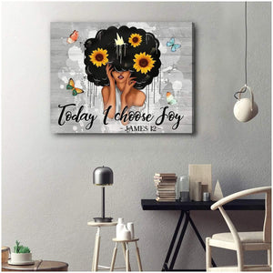 Zalooo Top 10 Beautiful Afro Hair Today I Choose Joy Wall Art Canvas