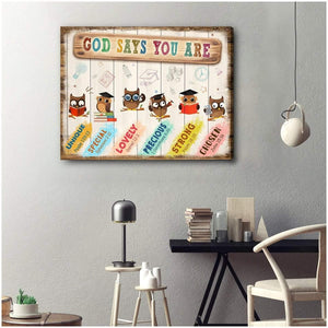 Zalooo God Say You Are Classroom Wall Art Canvas