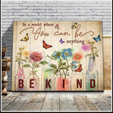 Zalooo In A World Butterfly Wall Art Canvas