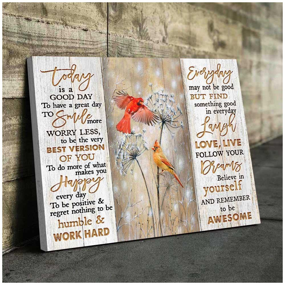 Zalooo To Be Awesome Cardinal Wall Art Canvas