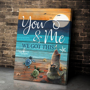 Zalooo You And Me Turtle Wall Art Canvas