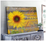 Zalooo Live Laugh Love Sunflower Wall Art Canvas