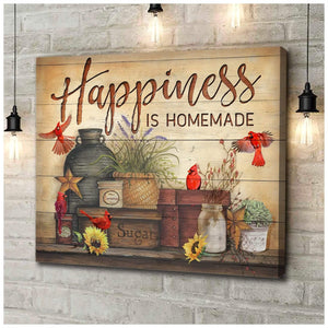 Zalooo Happiness Cardinal Wall Art Canvas