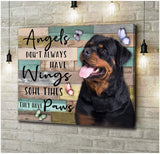 Zalooo They Have Paws Rottweiler Wall Art Canvas