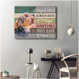 Zalooo They Have Paws Yorkshire Wall Art Canvas