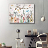Zalooo Let It Be Dragonfly Wall Art Canvas