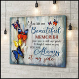 Zalooo Always At My Side Butterfly Wall Art Canvas