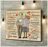 Zalooo I Thought Of You Today Cardinal Wall Art Canvas