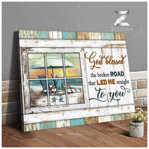 Zalooo God blessed Turtle Canvas Wall Art Decor