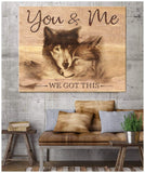 Canvas Wolf You & Me
