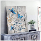 Zalooo Your Wings Butterfly Wall Art Canvas