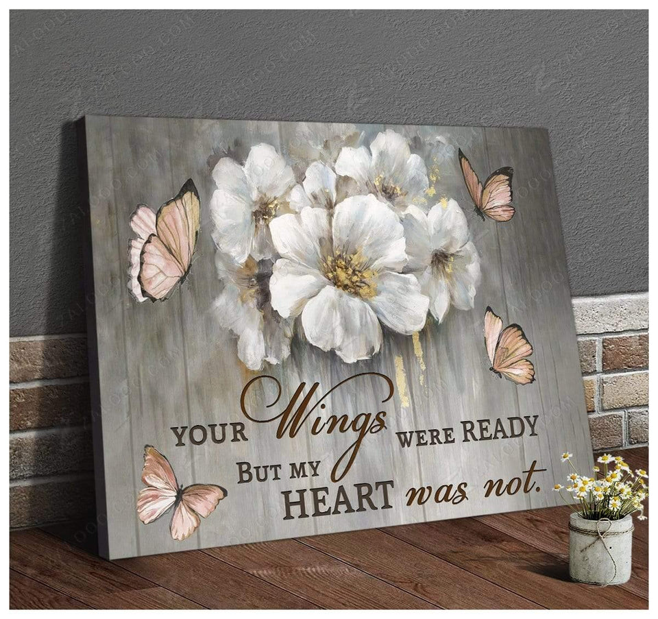 Zalooo Your Wings Were Ready Butterfly Wall Art Canvas