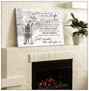 Zalooo Just Remember The Ride Goes On Horse Wall Art Canvas Christmas Wall Art Canvas
