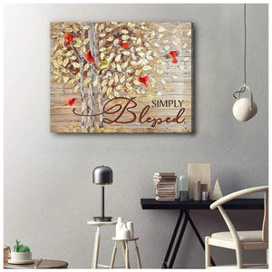 Zalooo Simply Blessed Cardinal Wall Art Canvas