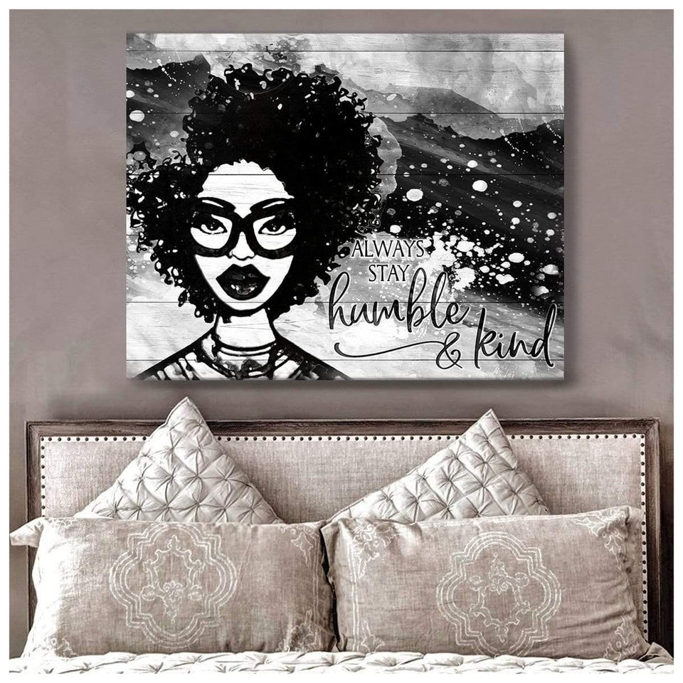 Zalooo Top 10 Beautiful Woman Always Stay Humble And Kind Wall Art Canvas