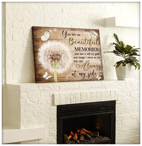Zalooo You Left Me Dandelion Butterfly Wall Art Canvas Christmas Wall Art Canvas