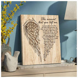 Zalooo The Moment That You Left Me Angel Wings Wall Art Canvas