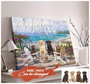 Zalooo You And Me And The Dogs Personalized Dog Photo Wall Art Canvas