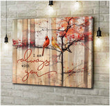 Zalooo I Am Always With You Cardinal Wall Art Canvas