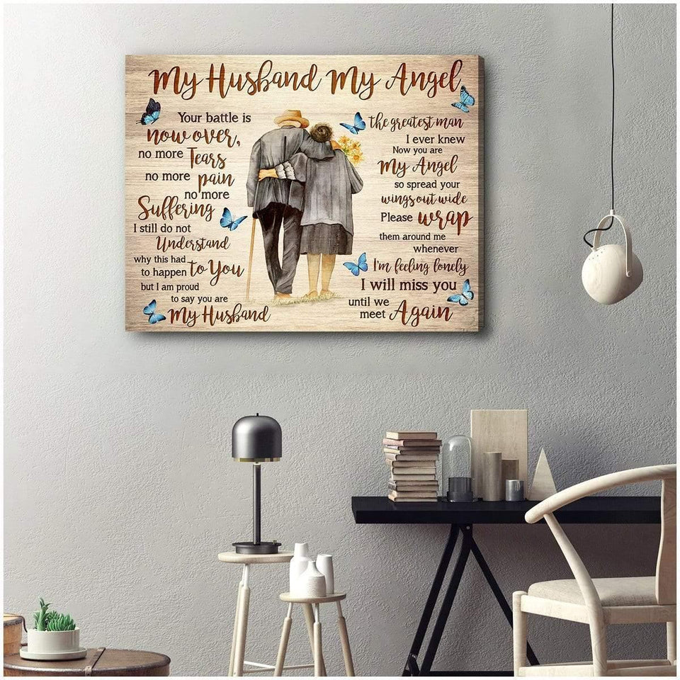 Zalooo My Husband My Angel Wall Art Canvas