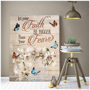 Zalooo Let Your Faith Butterfly V2 Wall Art Canvas