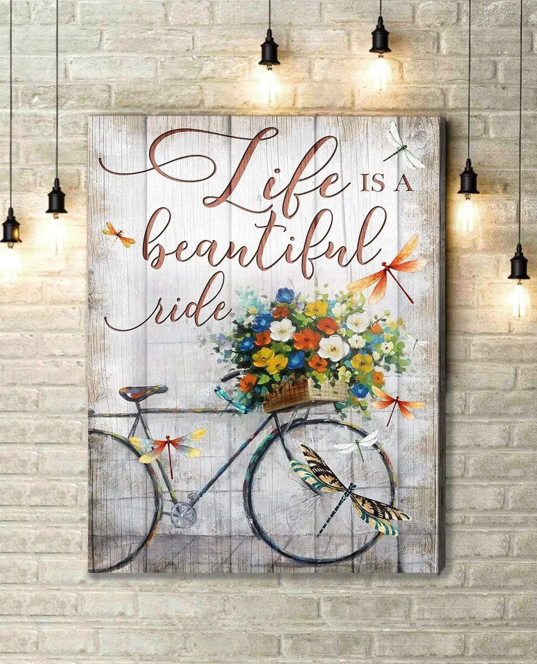 Zalooo Life Is A Beautiful Ride Dragonfly Wall Art Canvas Christmas Wall Art Canvas