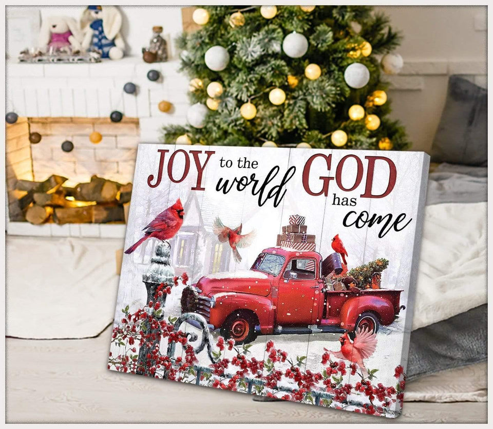 Zalooo Joy To The World Cardinal Wall Art Canvas Christmas Wall Art Canvas