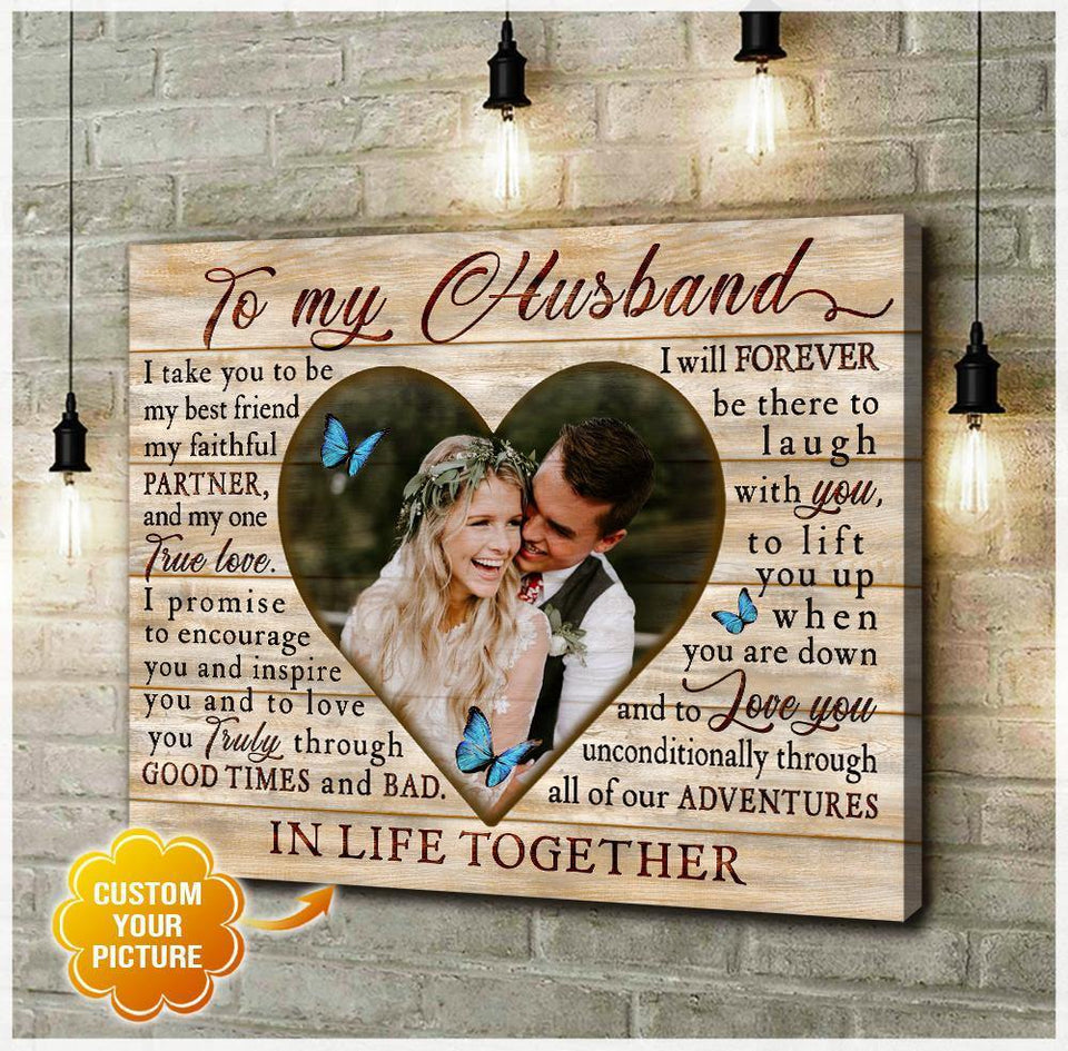 Zalooo To My Husband Custom Wall Art Canvas