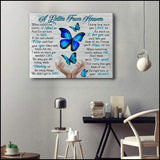 Zalooo A Letter From Heaven Butterfly Wall Art Canvas