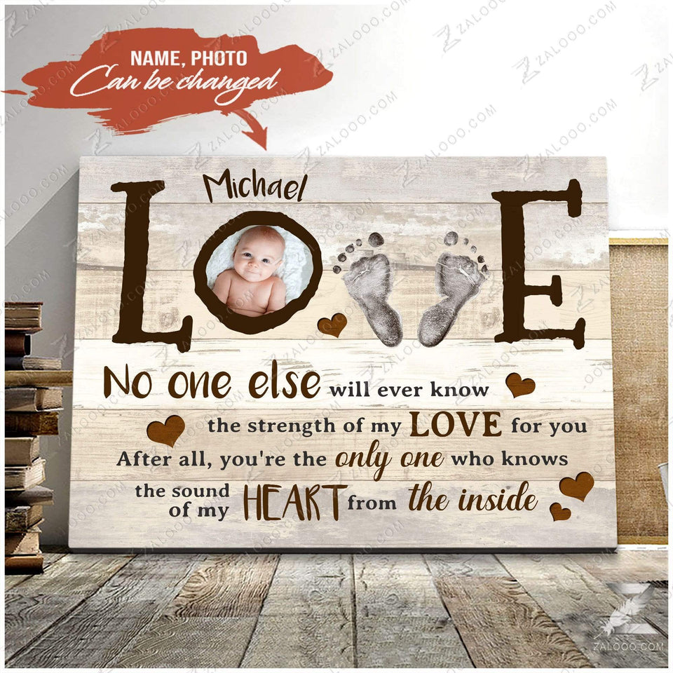 Zalooo No one else Personalized Baby Wall Art Canvas