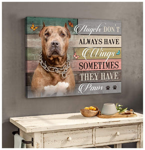 Zalooo They Have Paws Pitbull Wall Art Canvas