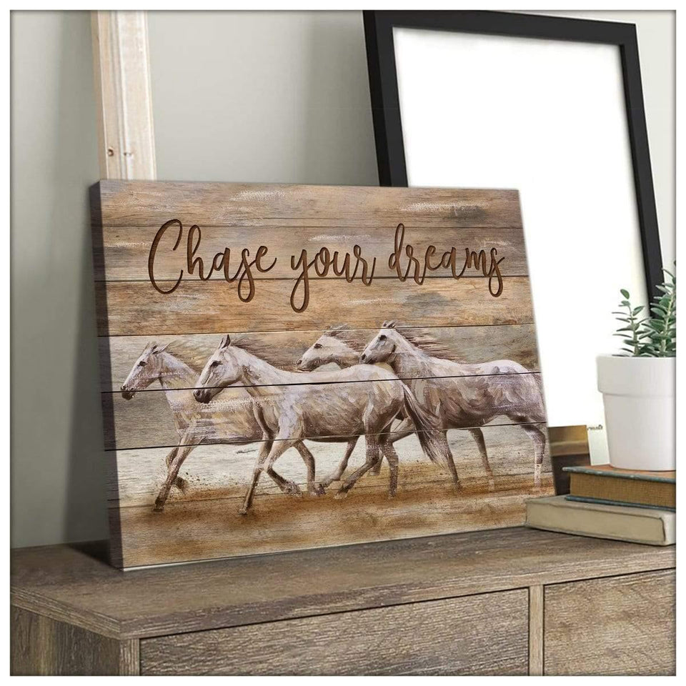 Zalooo Chase Your Dreams Horse Wall Art Canvas