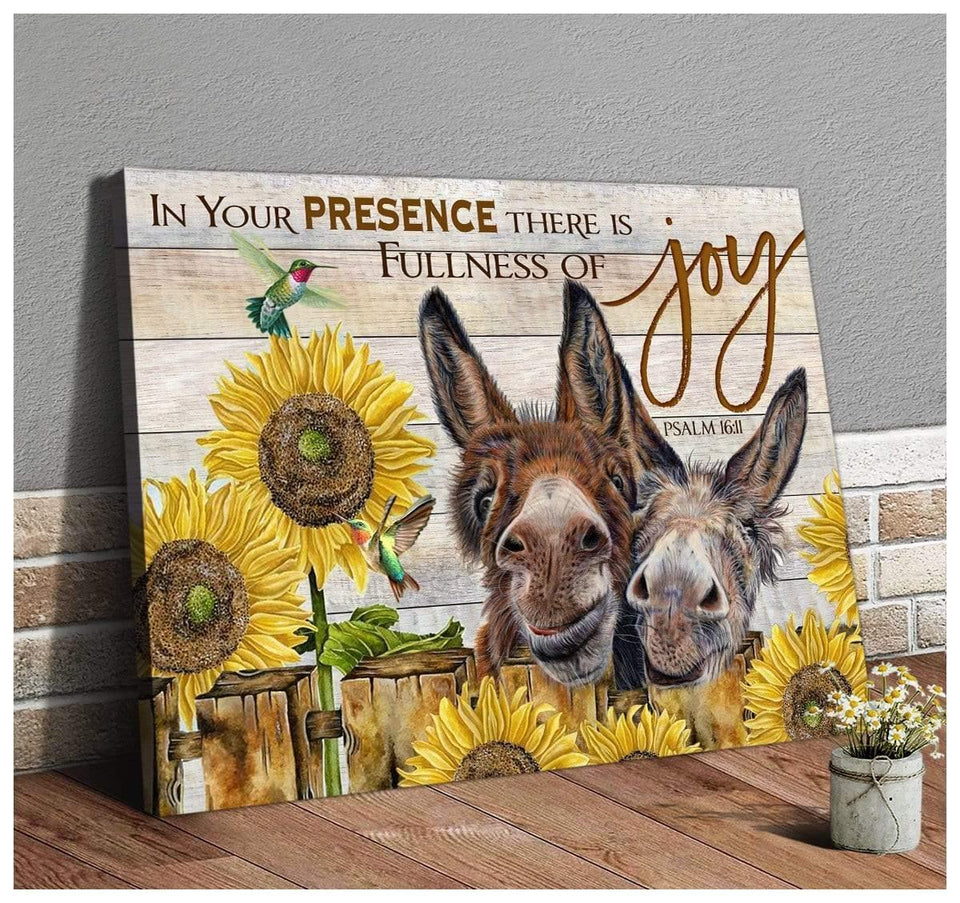 Zalooo Joy Donkey Wall Art Canvas