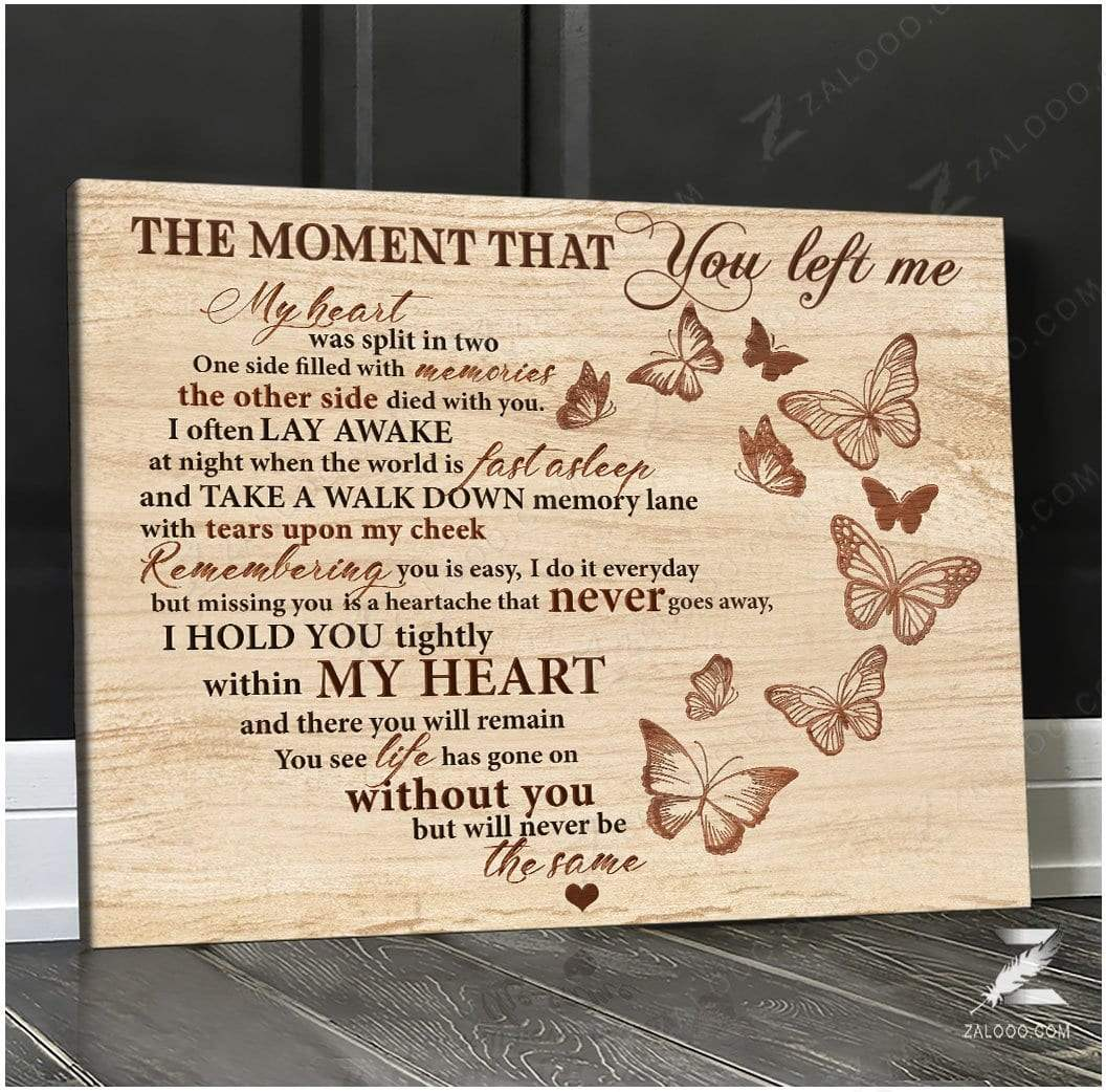 Zalooo The moment Butterfly Wall Art Canvas