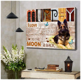 Zalooo I Love You Personalized Dog Photo and Name Wall Art Canvas